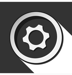 Icon - cogwheel with shadow vector
