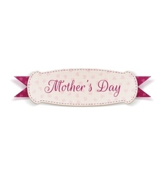 Mothers day paper card template vector