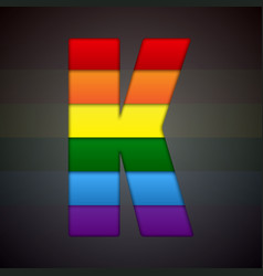 abstract sign of rainbow lgbt community vector image vector image