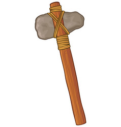 Ancient stone axe vector
