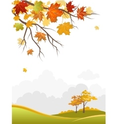 Autumn scenery vector