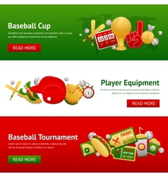 Baseball banner set vector