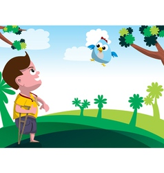 Child with disability vector