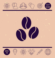coffee beans line icon vector image