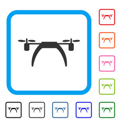 Copter framed icon vector