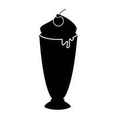 Delicious milk shake icon vector