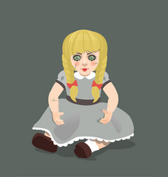 Doll on dark background eps 10 vector