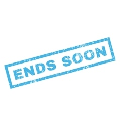 Ends soon rubber stamp vector