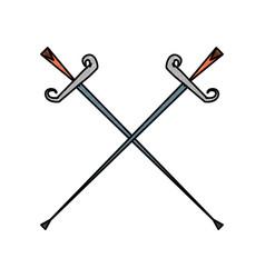 fencing sport word vector image