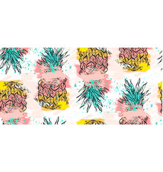 hand drawn abstract tropical seamless vector image