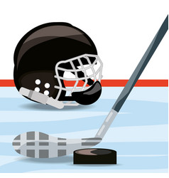 hockey on ice sport game to competition vector image