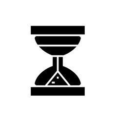 hourglass icon black sign on vector image vector image