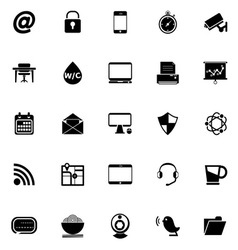 Internet cafe icons on white background vector