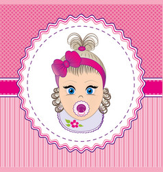 Label baby girl vector