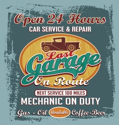 last vintage garage vector image vector image