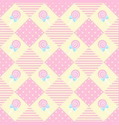 pattern lollipop geometry pastel theme vector image