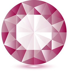 Pink gem vector image vector image