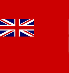 Red duster union jack vector