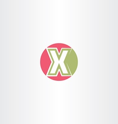 red green x letter circle logo icon vector image vector image
