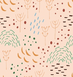 Scandinavian style abstract seamless pattern vector image vector image