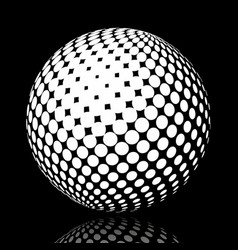 Set abstract halftone 3d spheres 17 vector