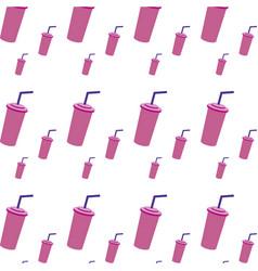 soda beverage in the cinema movie scene background vector image
