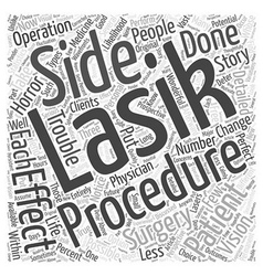 Statistics for lasik surgery patients word cloud vector