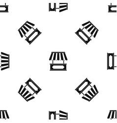 Street kiosk pattern seamless black vector