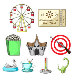 the amusement park rides the attributes of a vector image vector image