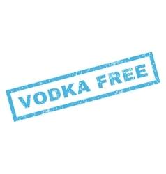 Vodka free rubber stamp vector
