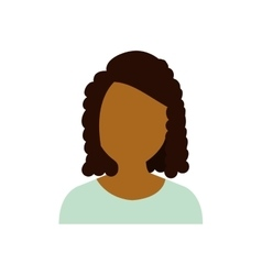 Woman female girl head person icon graphic vector