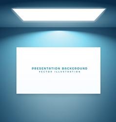 Presentation board in empty room vector