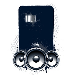 Grunge musical banner vector image