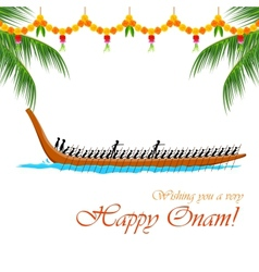 Boat Race of Kerla vector image