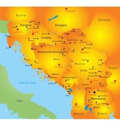 Balkan map vector image