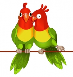 lovebirds vector image