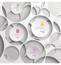 Background of white circles vector image