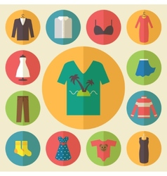 Clothing icons set vector