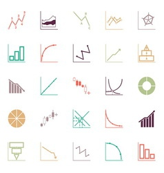 Economic and investment diagram line icon flat vector