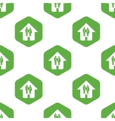 Family house pattern vector