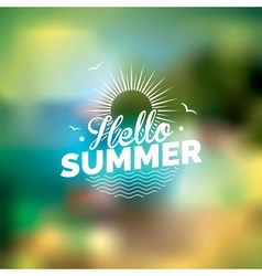 Summer holiday on blurred background vector