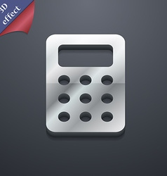 Calculator bookkeeping icon symbol 3d style trendy vector