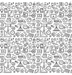 Web seamless background vector image
