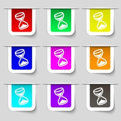 Hourglass icon sign set of multicolored modern vector