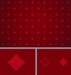 Clean abstract poker background red diamonds vector