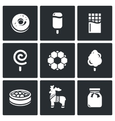 Candy shop icons vector