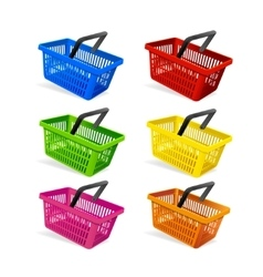 Plastic basket set vector