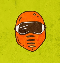 Safety mask cartoon vector