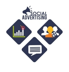 Social advertising and marketing online vector