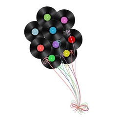 vinyl disks as balloons vector image